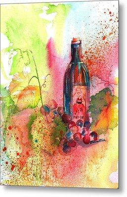 Fat Cat Wine Metal Print by Sharon Mick