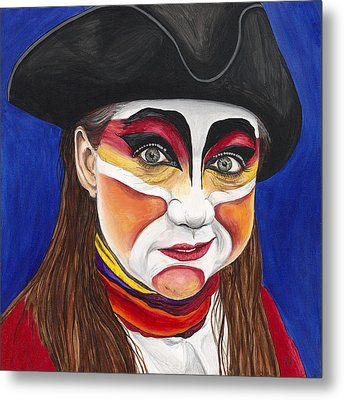Female Carnival Pirate Metal Print by Patty Vicknair