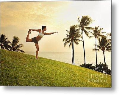 Female Doing Yoga Metal Print by Brandon Tabiolo - Printscapes