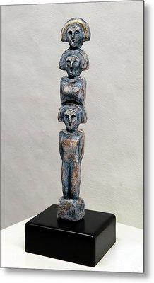 Female Figurine - Goddess Worship - Matronen - Matrone - Matrones - Matron - Nettersheim Eifel  Metal Print by Urft Valley Art