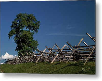 Fenceline At Bloody Lane Metal Print by Judi Quelland