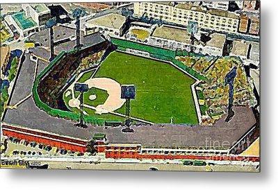Fenway Park Baseball Stadium In Boston Ma In 1940 Metal Print by Dwight Goss