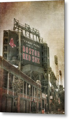 Fenway Park Billboard - Boston Red Sox Metal Print by Joann Vitali