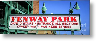 Fenway Park Sign Gate D Entrance Panorama Photo Metal Print by Paul Velgos