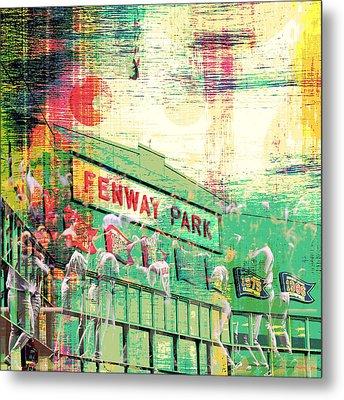 Fenway Park V3 Metal Print by Brandi Fitzgerald