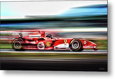 Ferrari Unbridled Metal Print by Peter Chilelli
