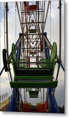 Ferris Wheel Metal Print by Anne Babineau