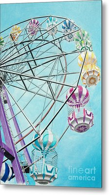 Ferris Wheel View Metal Print by Glenda Zuckerman