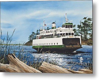 Ferry Illahee Metal Print by James Williamson