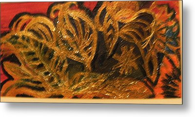 Festive Foliage Metal Print by Anne-Elizabeth Whiteway