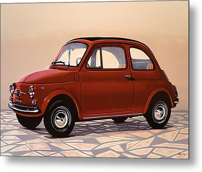 Fiat 500 1957 Painting Metal Print by Paul Meijering