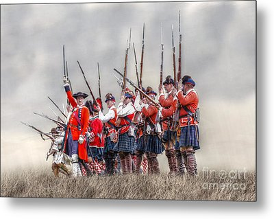 Field Of Battle The Charge Metal Print by Randy Steele
