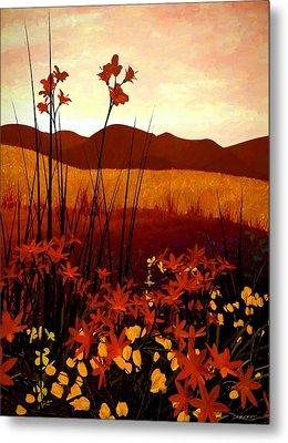Field Of Flowers Metal Print by Cynthia Decker