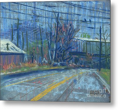 Field's Drive Metal Print by Donald Maier