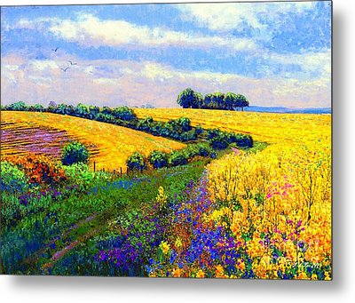 Fields Of Gold Metal Print by Jane Small