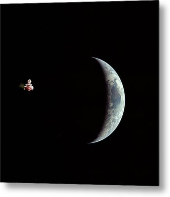 Fifi In Space Metal Print by Michael Ledray
