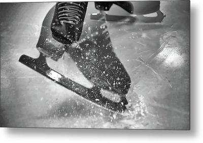 Figure Skating Abstract Metal Print by Rona Black
