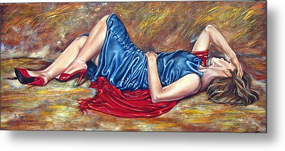 Figure Thirty Four Of Ten Metal Print by Ilse Kleyn
