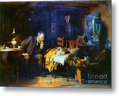 Fildes The Doctor 1891 Metal Print by Granger