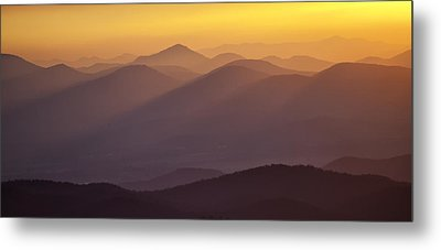 Filtered Light On The Blue Ridge Parkway Metal Print by Rob Travis