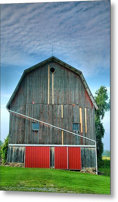 Finger Lakes Barn Iv Metal Print by Steven Ainsworth