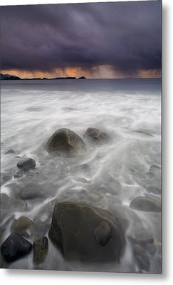 Fingers Of The Storm Metal Print by Mike  Dawson