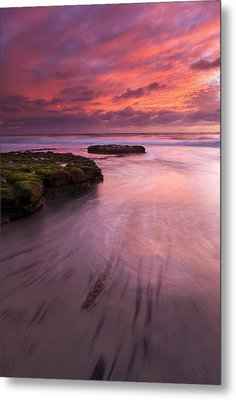 Fingers Of The Tide Metal Print by Mike  Dawson