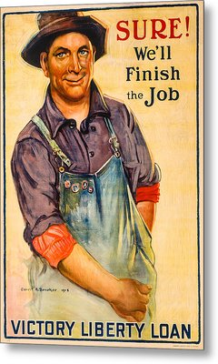 Finish The Job Metal Print by David Letts