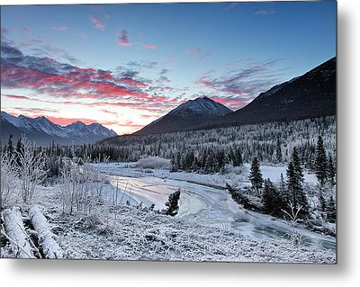 Fire And Ice Metal Print by Ed Boudreau