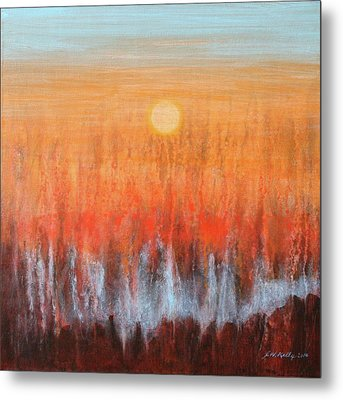 Fire And Ice Metal Print by J W Kelly