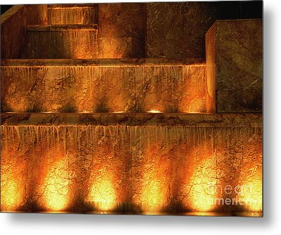 Fire And Water Metal Print by Sandra Bronstein
