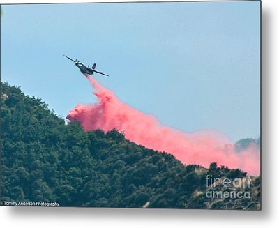 Fire Bomber Drop Metal Print by Tommy Anderson