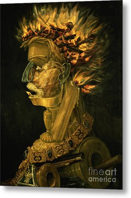 Fire Metal Print by Giuseppe Arcimboldo