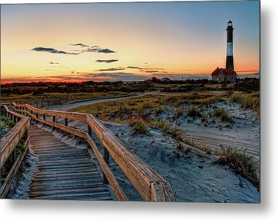 Fire Island Lighthouse At Robert Moses State Park Metal Print by Jim Dohms