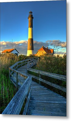 Fire Island Lighthouse Before Sunset Metal Print by Jim Dohms