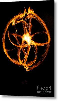 Fire Spinning Metal Print by Darcy Evans