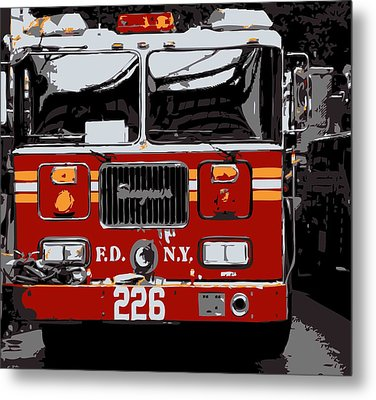 Fire Truck Color 6 Metal Print by Scott Kelley