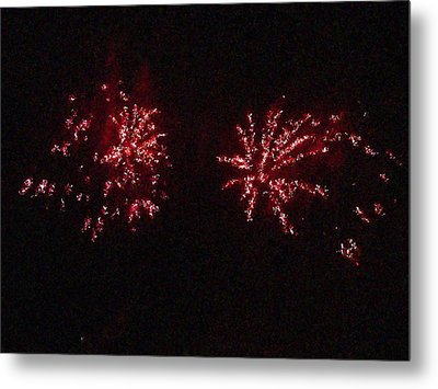 Fire Works Show Stippled Paint 6 Canada Metal Print by Dawn Hay