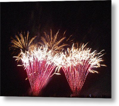 Fire Works Show Stippled Paint 7 Canada Metal Print by Dawn Hay