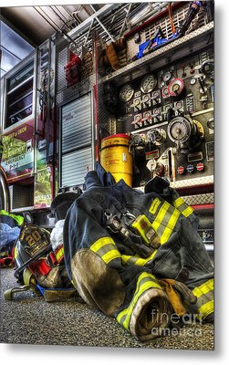 Fireman - Always Ready For Duty Metal Print by Lee Dos Santos