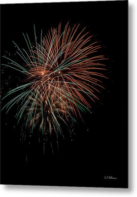 Fireworks Metal Print by Christopher Holmes