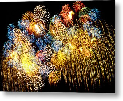 Fireworks Exploding  Metal Print by Garry Gay