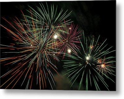Fireworks Metal Print by Glenn Gordon