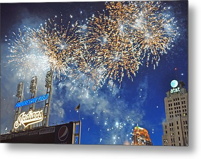 Fireworks Metal Print by Patrick Friery