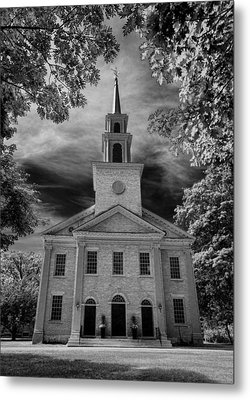 First Congregational Church Of Stockbridge Metal Print by Stephen Stookey