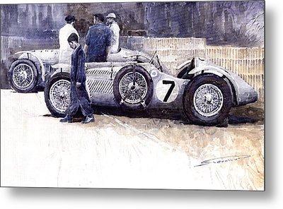 First Met Up Talbot Lago Le Mans 1950 Metal Print by Yuriy  Shevchuk