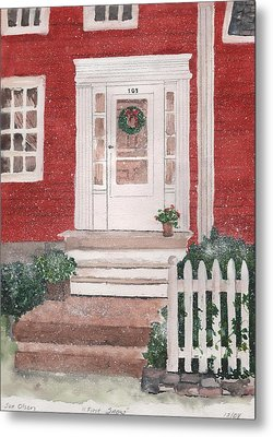 First Snow Metal Print by Sue Olson