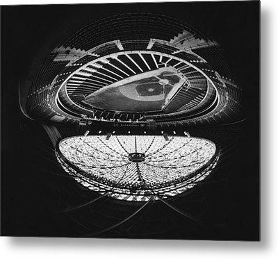 Fish Eye View Of The Astrodome Aka The Metal Print by Everett
