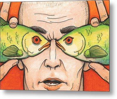 Fish Eyes Metal Print by Amy S Turner