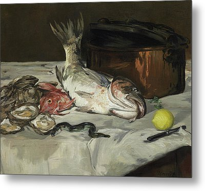 Fish Still Life Metal Print by Edouard Manet